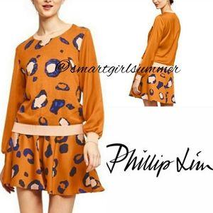 🆕⭐Phillip Lim mustard animal print skirt 20th Ann